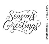 season's greetings hand... | Shutterstock .eps vector #774685597