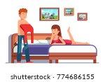 family couple preparing to go... | Shutterstock .eps vector #774686155