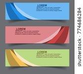 horizontal business banner...   Shutterstock .eps vector #774686284
