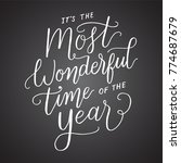 it's the most wonderful time of ... | Shutterstock .eps vector #774687679