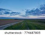 summer landscape with green... | Shutterstock . vector #774687805