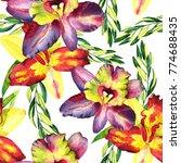 seamless watercolor pattern... | Shutterstock . vector #774688435