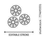 bobbins linear icon. thin line...   Shutterstock .eps vector #774695551