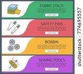 tailoring web banner templates...   Shutterstock .eps vector #774695557