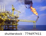 offshore construction platform... | Shutterstock . vector #774697411