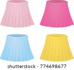 colorful set of pleated skirts. ... | Shutterstock .eps vector #774698677