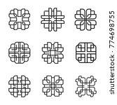 linear emblem vector set | Shutterstock .eps vector #774698755
