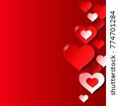 bright saint valentine day... | Shutterstock .eps vector #774701284