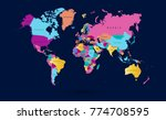 color world map vector | Shutterstock .eps vector #774708595