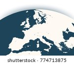 vector earth globe with zoom up ... | Shutterstock .eps vector #774713875