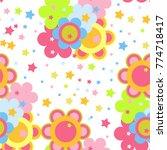 children's seamless pattern... | Shutterstock .eps vector #774718417