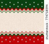 ugly sweater merry christmas... | Shutterstock .eps vector #774718594