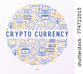 cryptocurrency concept in... | Shutterstock .eps vector #774721015