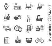 fitness and health icon set  ... | Shutterstock .eps vector #774721447