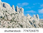 white   rocky mountains at... | Shutterstock . vector #774724375