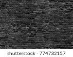 black brick wall texture grunge ... | Shutterstock . vector #774732157