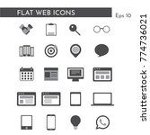 web icons for business  finance ...