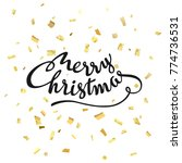 merry christmas. abstract... | Shutterstock .eps vector #774736531