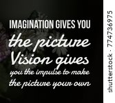 motivational quotes on vision | Shutterstock . vector #774736975