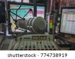 in radio studios  professional ...   Shutterstock . vector #774738919