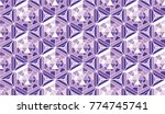 abstract pattern in mosaic... | Shutterstock .eps vector #774745741