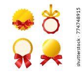 vector ribbons set isolated on... | Shutterstock .eps vector #774748915