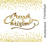 merry christmas. abstract... | Shutterstock .eps vector #774749569