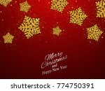 christmas  new year background... | Shutterstock .eps vector #774750391