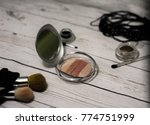 powder and cosmetic accessories ... | Shutterstock . vector #774751999