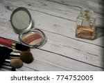powder and cosmetic accessories ... | Shutterstock . vector #774752005
