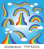 rainbow vector colorful bowed... | Shutterstock .eps vector #774752221