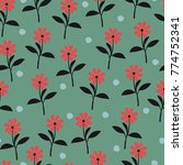 floral seamless pattern for... | Shutterstock . vector #774752341