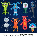 monster alien vector cartoon...