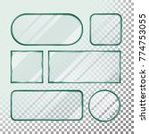 transparent glass buttons... | Shutterstock .eps vector #774753055