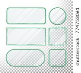 transparent glass button vector.... | Shutterstock .eps vector #774753061