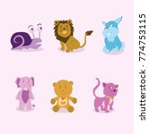 animals cartoon vector | Shutterstock .eps vector #774753115
