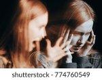girl with schizophrenia...   Shutterstock . vector #774760549