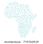 africa map network connections  ... | Shutterstock .eps vector #774763519