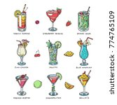 cocktail vector alcohol... | Shutterstock .eps vector #774765109