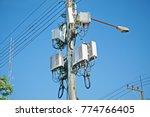 micro cell 3g  4g  5g. mobile...   Shutterstock . vector #774766405