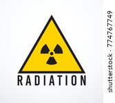vector triangle radiation sign... | Shutterstock .eps vector #774767749