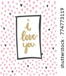 i love you handdrawn doodle... | Shutterstock .eps vector #774773119