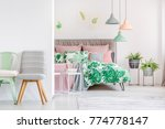 chairs and lamps in bright... | Shutterstock . vector #774778147