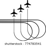 airplane flying formation  air... | Shutterstock .eps vector #774783541