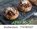 stuffed mushrooms with beef... | Shutterstock . vector #774785107