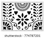 mexican folk art vector pattern ... | Shutterstock .eps vector #774787201