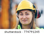 close up portrait of female... | Shutterstock . vector #774791245