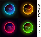 set of round shiny shiny buttons