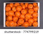 fresh orange  tangerine fruit ... | Shutterstock . vector #774799219