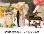 miniature wedding couple doll... | Shutterstock . vector #774799525
